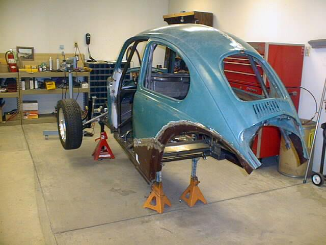 ... (3) the bonnet after the initial body work on it (4) doors after they had been bead blasted to remove paint (5) the new rear fenders with ... & BugWing